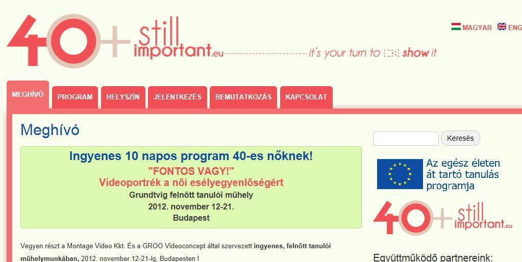 Grundtvig EU-s képzés középkorú nőknek
