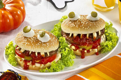 Halloween hamburger