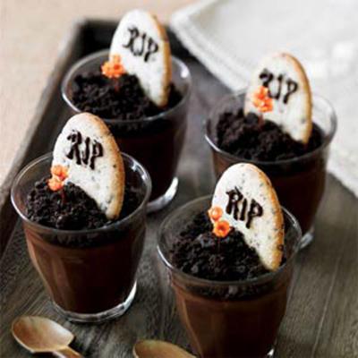 Halloween csoki pohárkrém